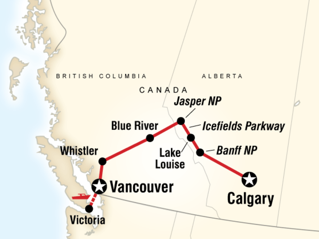 Discover the Canadian Rockies - Westbound