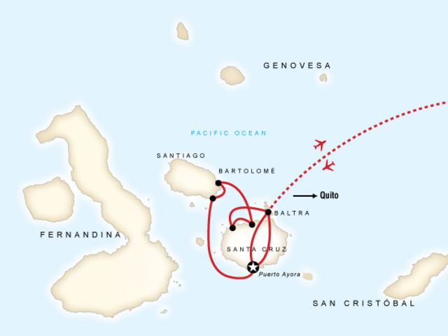 Galápagos Land & Sea — Central Islands aboard the Monserrat