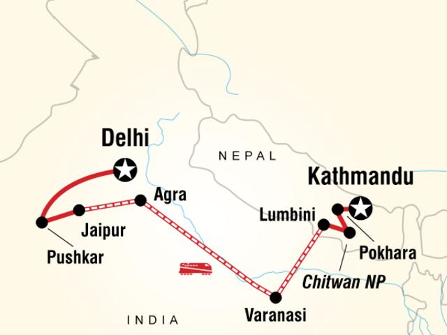Delhi to Kathmandu Yolo Adventure
