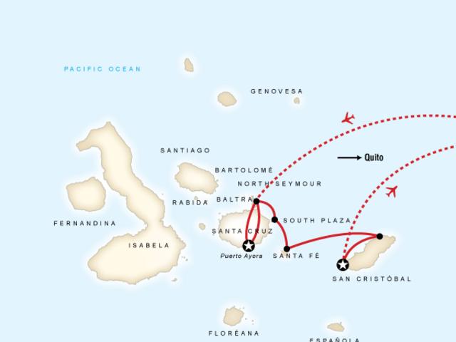 Galápagos Land & Sea — Central & East Islands aboard the Monserrat