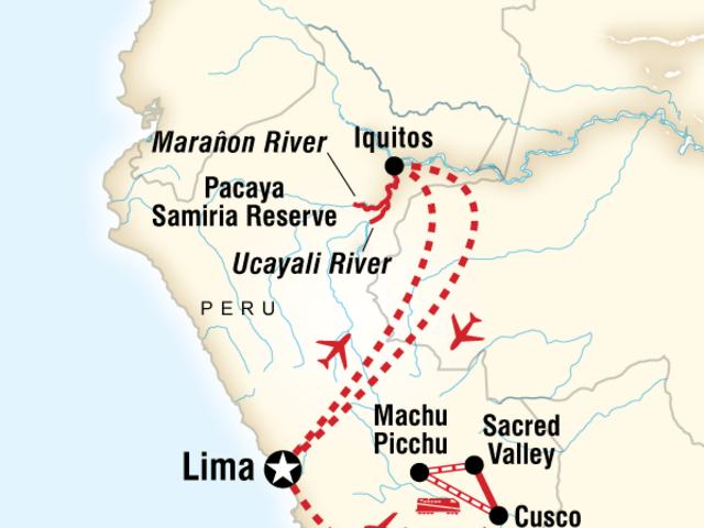 Amazon Riverboat Adventure & Machu Picchu Explorer aboard the Amatista