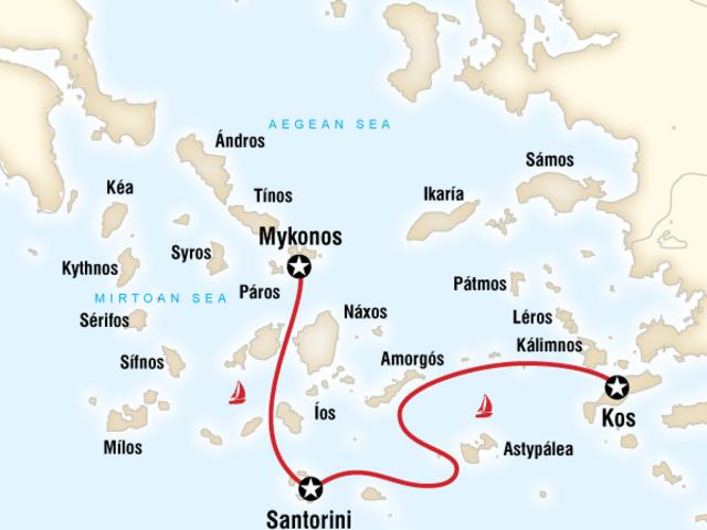 Sailing Greece - Kos to Mykonos
