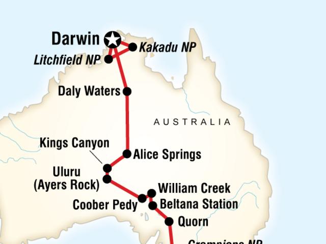 Australia South to North–Melbourne to Darwin
