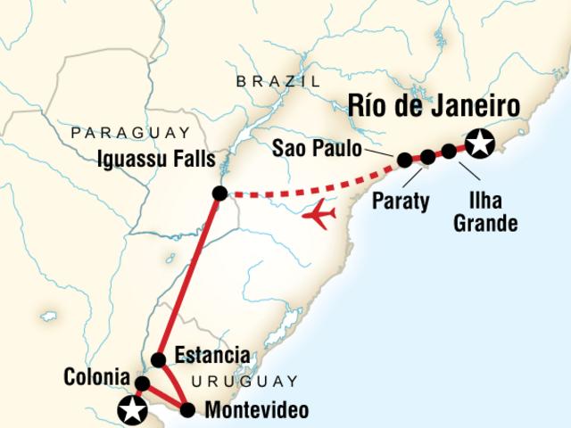 In Search of Iguassu–Rio to Buenos Aires