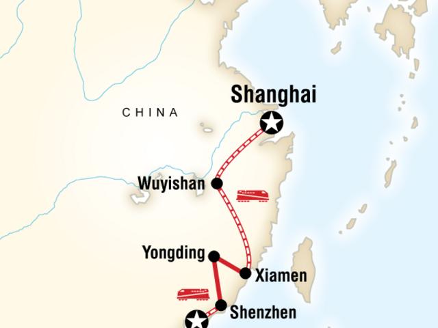 Shanghai to Hong Kong Fujian Adventure