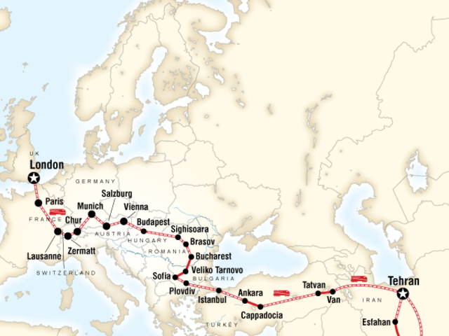 London to Tehran by Rail