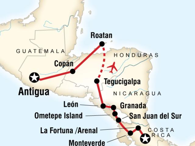 Volcano Adventure – San José to Antigua