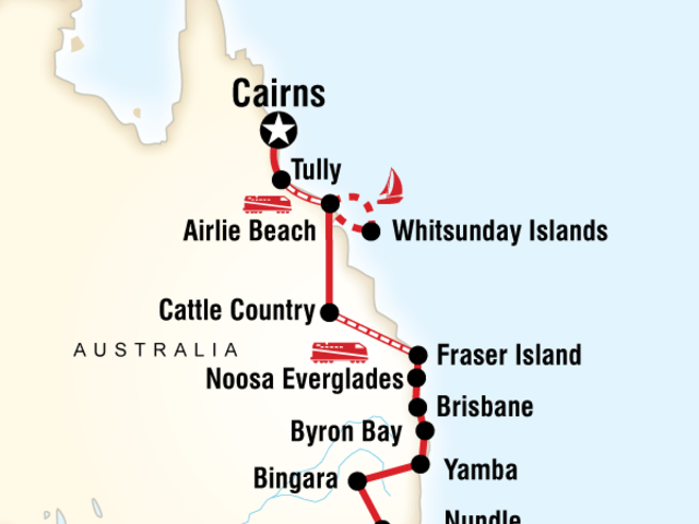 Most of the Coast–Sydney to Cairns