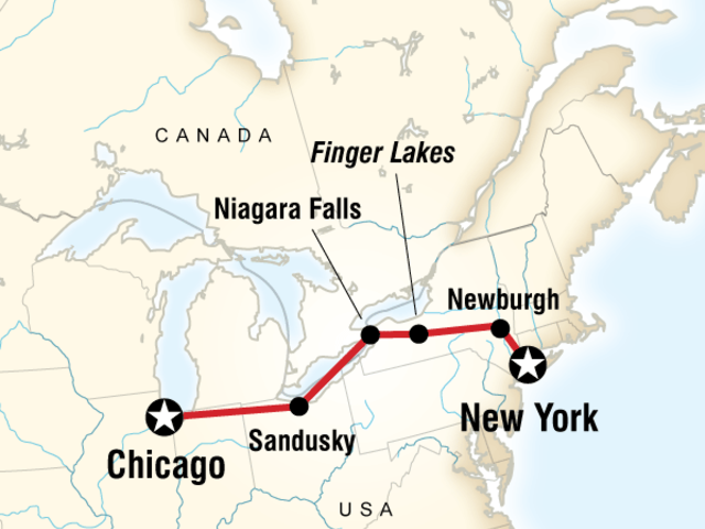New York to Chicago