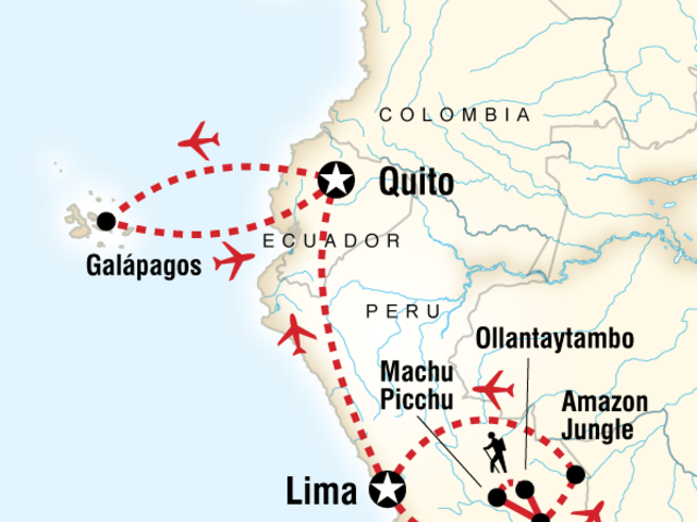 Amazon to the Andes & Galápagos South & Central Islands
