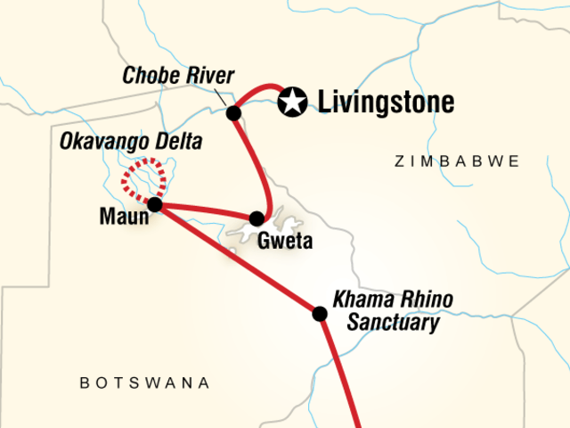 Botswana & Falls Adventure