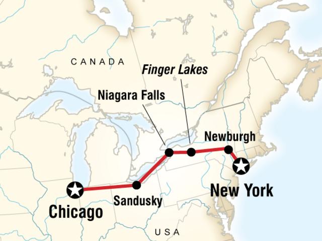 New York to Chicago