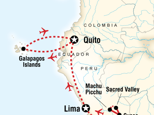 Discover Machu Picchu and Galápagos — Land & Sea Central Islands