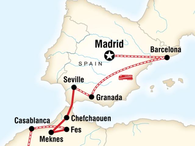 Spain & Morocco by Rail