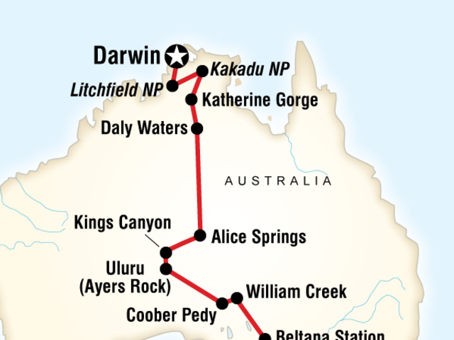 Australia North to South – Darwin to Adelaide