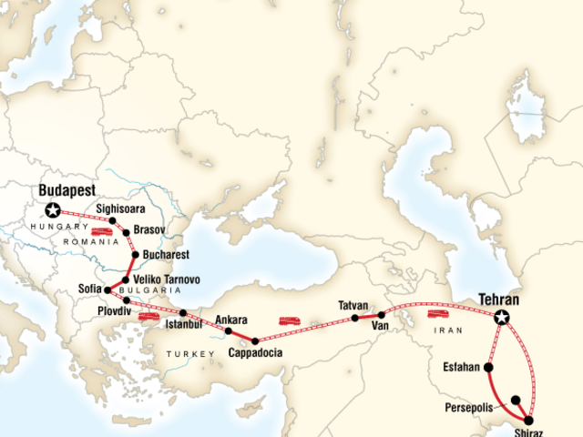 Budapest to Tehran by Rail