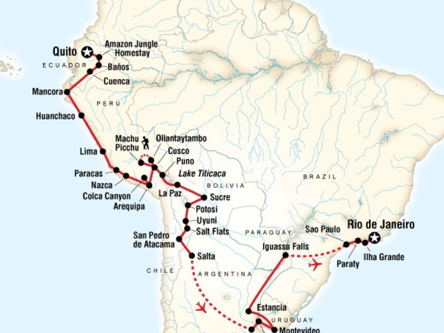The Great South American Journey–Quito to Rio Adventure