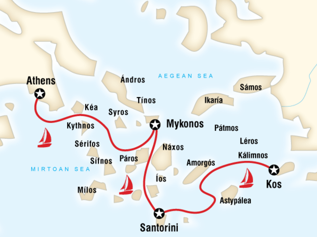 Sailing Greece - Athens to Kos
