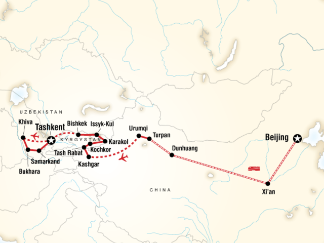 Central Asia on the Silk Road