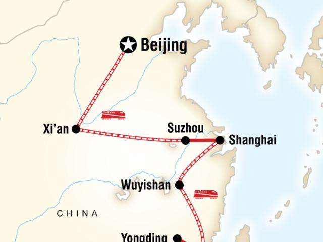 Beijing to Hong Kong–Fujian Route