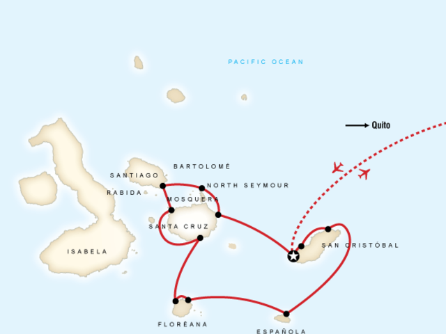 Galápagos — Central, South & East Islands aboard the Queen