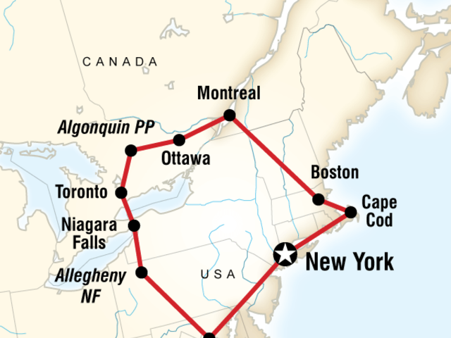 Highlights of the Eastern US & Canada