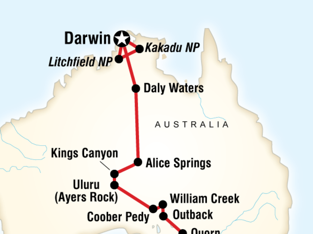 Outback to the Top End–Adelaide to Darwin