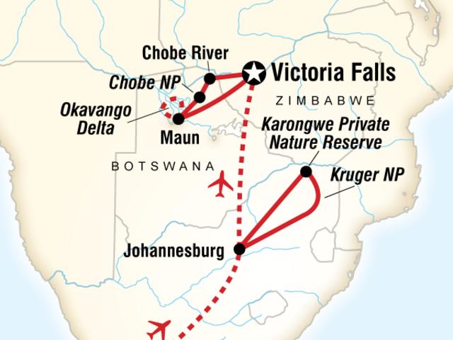 Highlights of South Africa, Zambia & Botswana