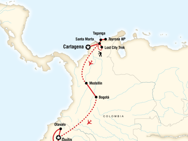 Cartagena to Quito on a Shoestring