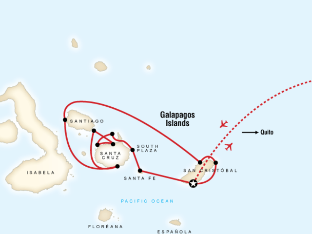 Galápagos — Central & East Islands aboard the Xavier III