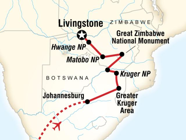 Cape Town, Kruger & Zimbabwe