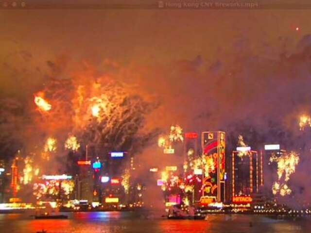 Video: Hong Kong's Chinese New Year Fireworks