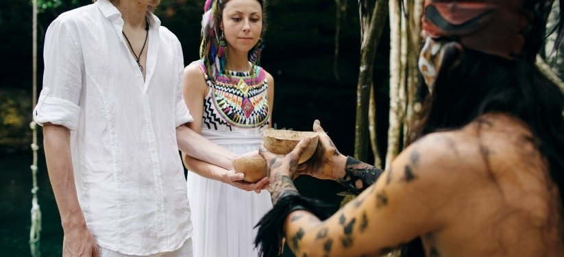 The union of two soulmates, a Mayan Ceremony