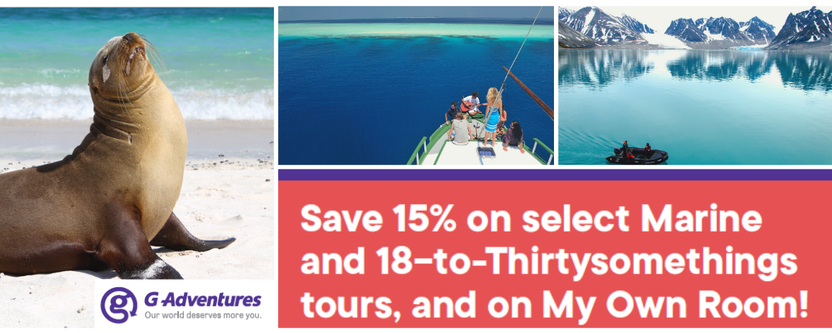 Save 15% on select tours with G Adventures