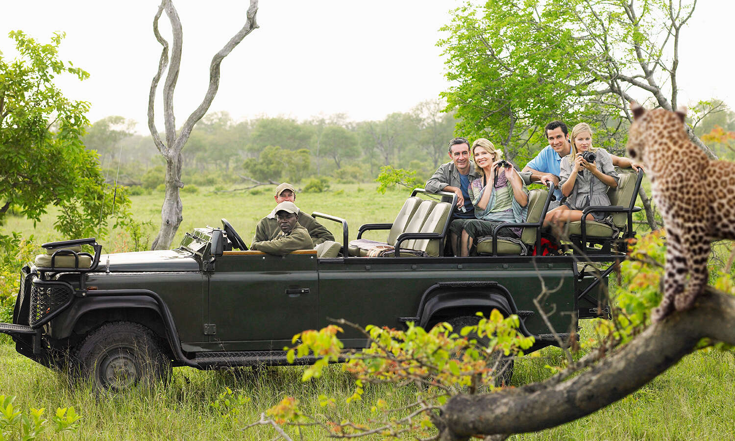 Tourists In Jeep