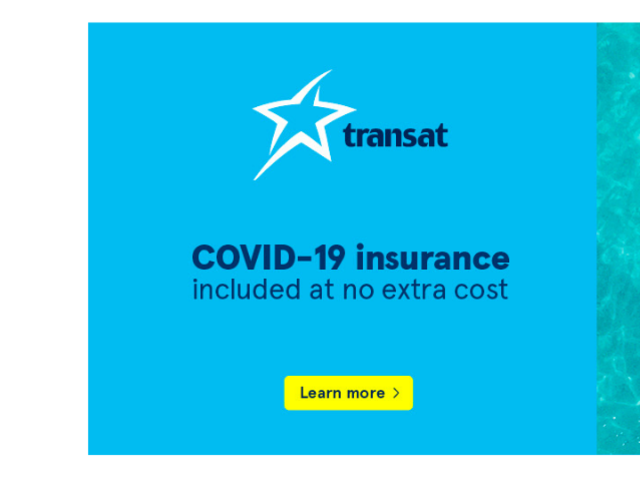Transat includes COVID-19 Insurance at No Cost!
