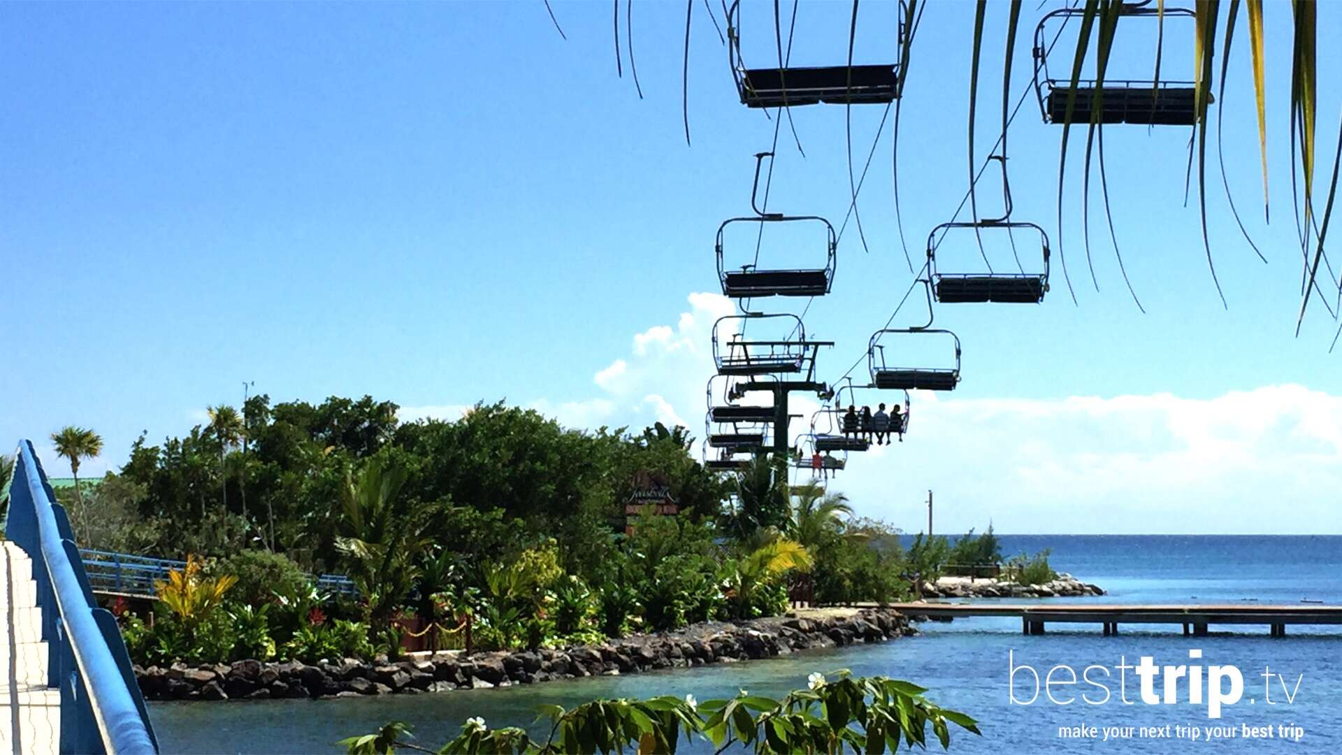 You Can Take a Chair Lift to the Beach on this Island