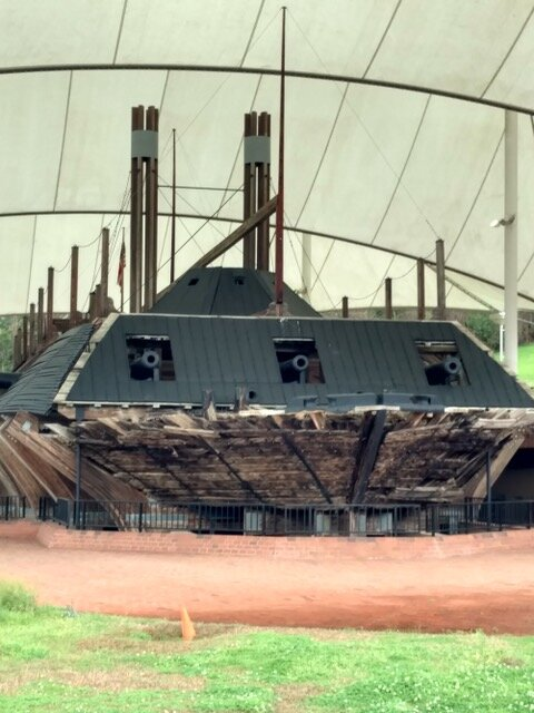 USS Cairo at the Vicksburg National Battlefield Park