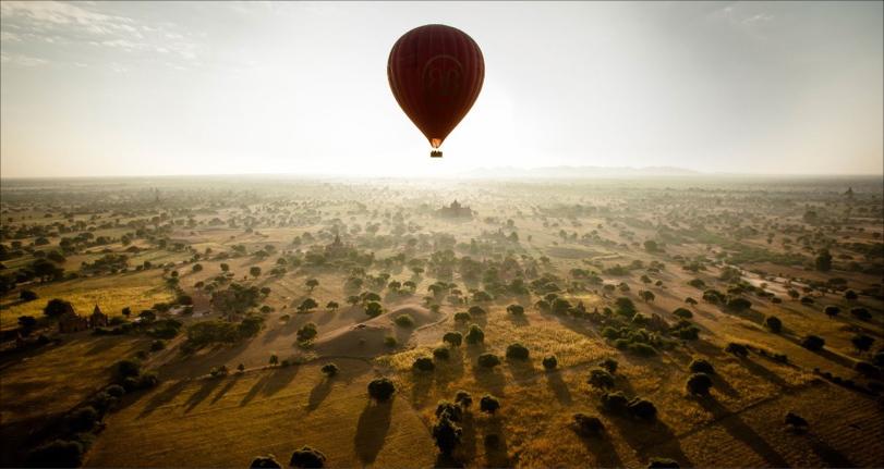 Hot air balloon ride over Bagan