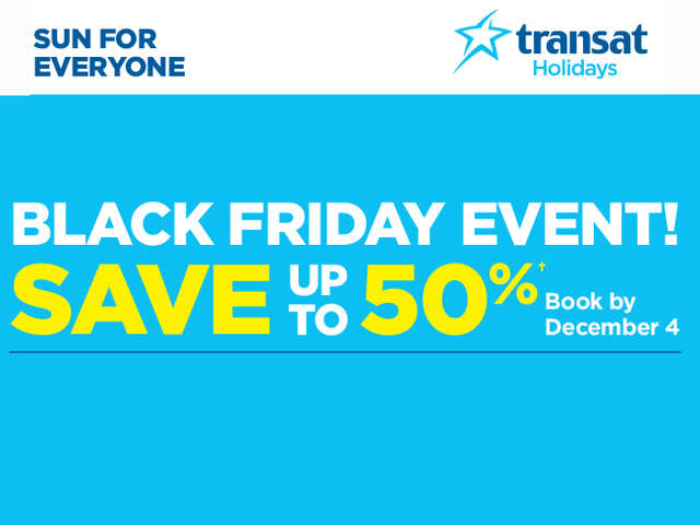 Black Friday - Save up to 50% - BC Departures!