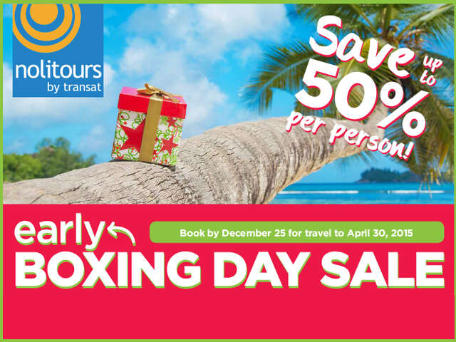 Early Boxing Day Sale! BC Departures