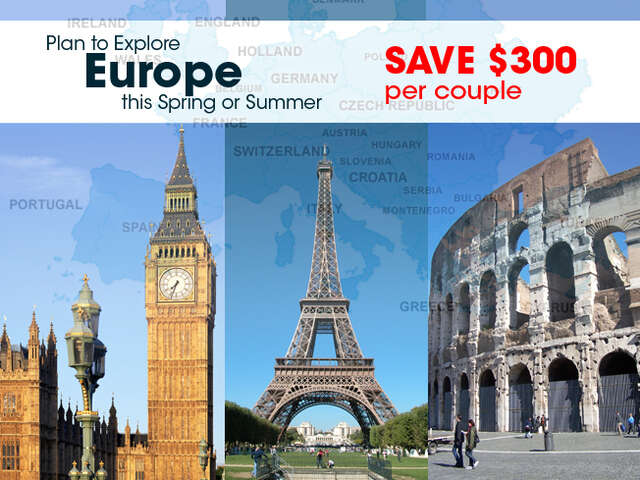 Limited Time Offer on Europe Package Deals - BC