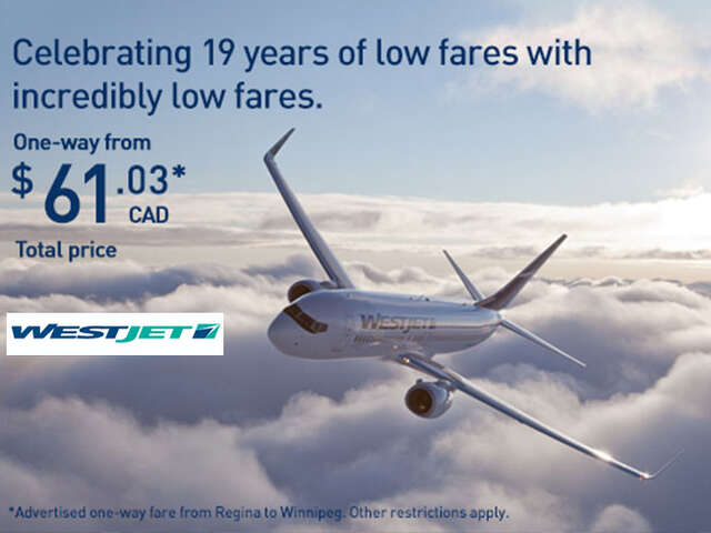 WestJet 1-Day Seat Sale!