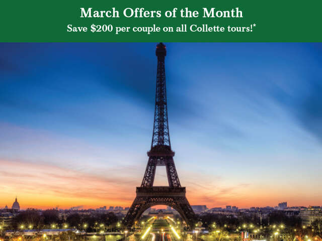 Save on All Collette Tours!