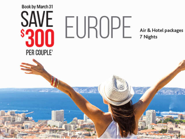 Save $300 per couple on Europe!