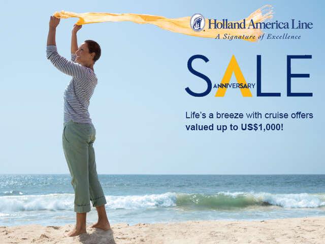 Holland America Line Anniversary Sale!