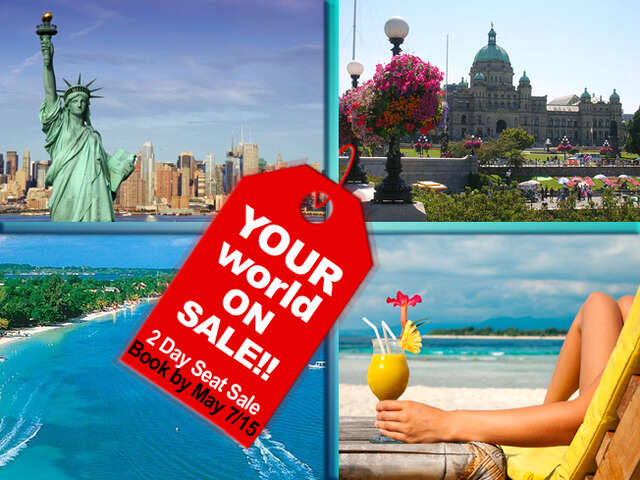 Book by May 7/15 - 2 days to save. So many places to GO!