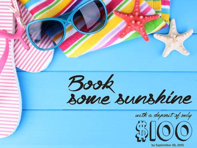 Book some Sunshine and save up to $900 per couple