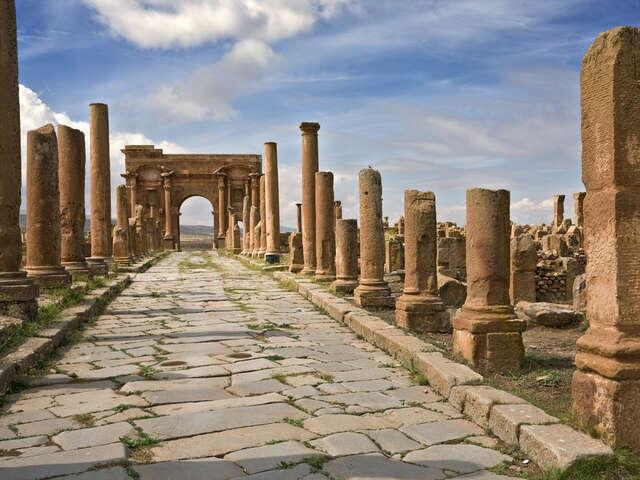 Timgad, The Algerian Roman Ruin