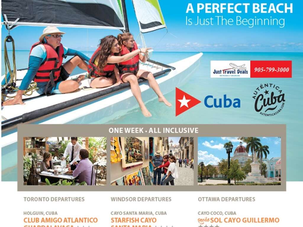 Cuba Vacations From 345 Toronto Windsor And Ottawa
